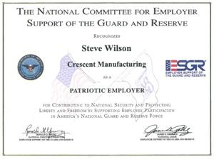 Steve Wilson Patriotic Employer