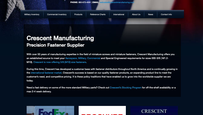 crescent manufacturing website