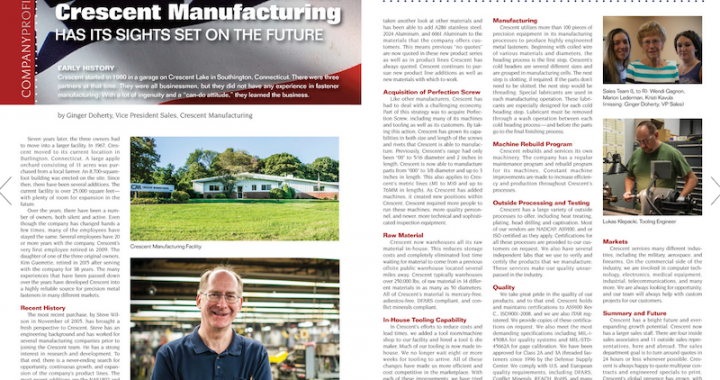 Crescent Manufacturing future