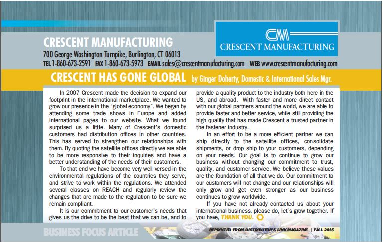 International Fastener Division of Crescent Manufacturing