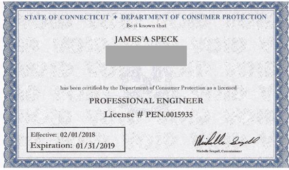 Jim Speck license